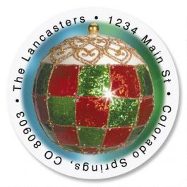 Palazzo Round Address Labels