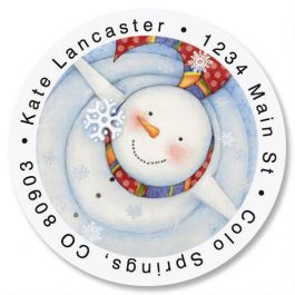 Looking Up Round Address Labels