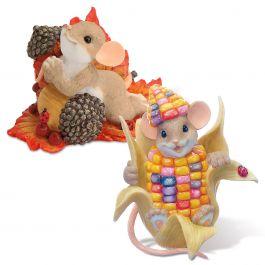 Charming Tails® Autumn Figurines Set