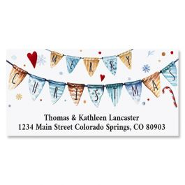 A Holiday Message Deluxe Foil Christmas Address Labels