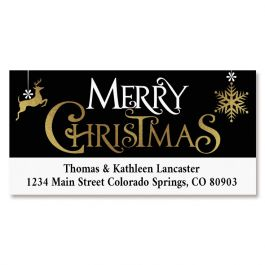 Festive Holidays Deluxe Return Address Labels