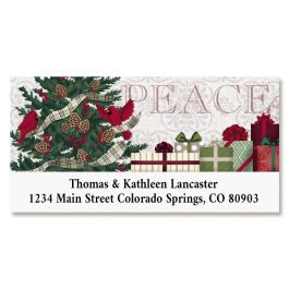 Warmest Wishes Deluxe Return Address Labels