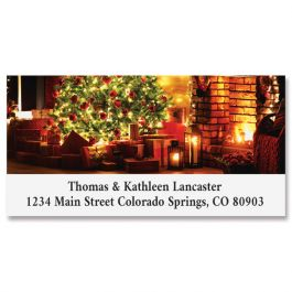 Classic Christmas Deluxe Return Address Labels