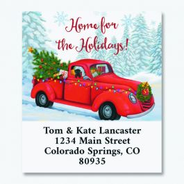 Home For The Holidays Truck Select Return Address Labels