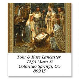 Golden Nativity Select Address Labels