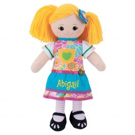 Custom Blonde Rag Doll with Apron Dress