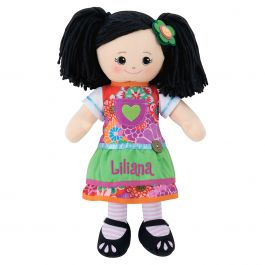 Custom Asian Rag Doll with Apron Dress