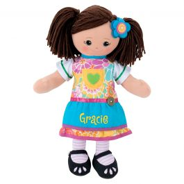 Custom Hispanic Rag Doll with Apron Dress