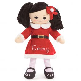 Custom Asian Rag Doll in Santa Dress
