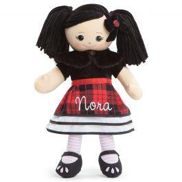 Custom Asian Rag Doll in Plaid Dress