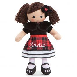 Custom Hispanic Rag Doll in Plaid Dress