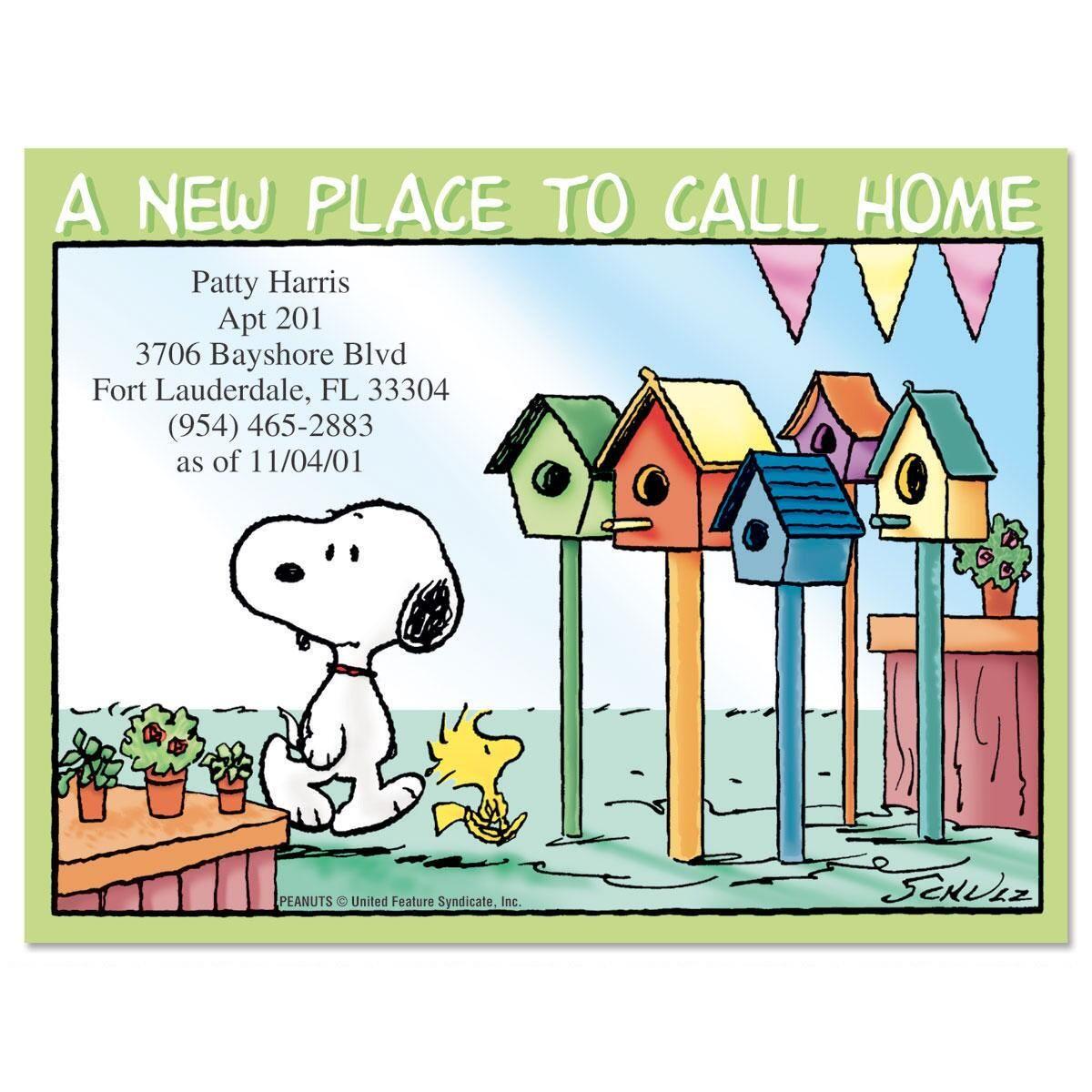 PEANUTS® House Hunting  Postcards