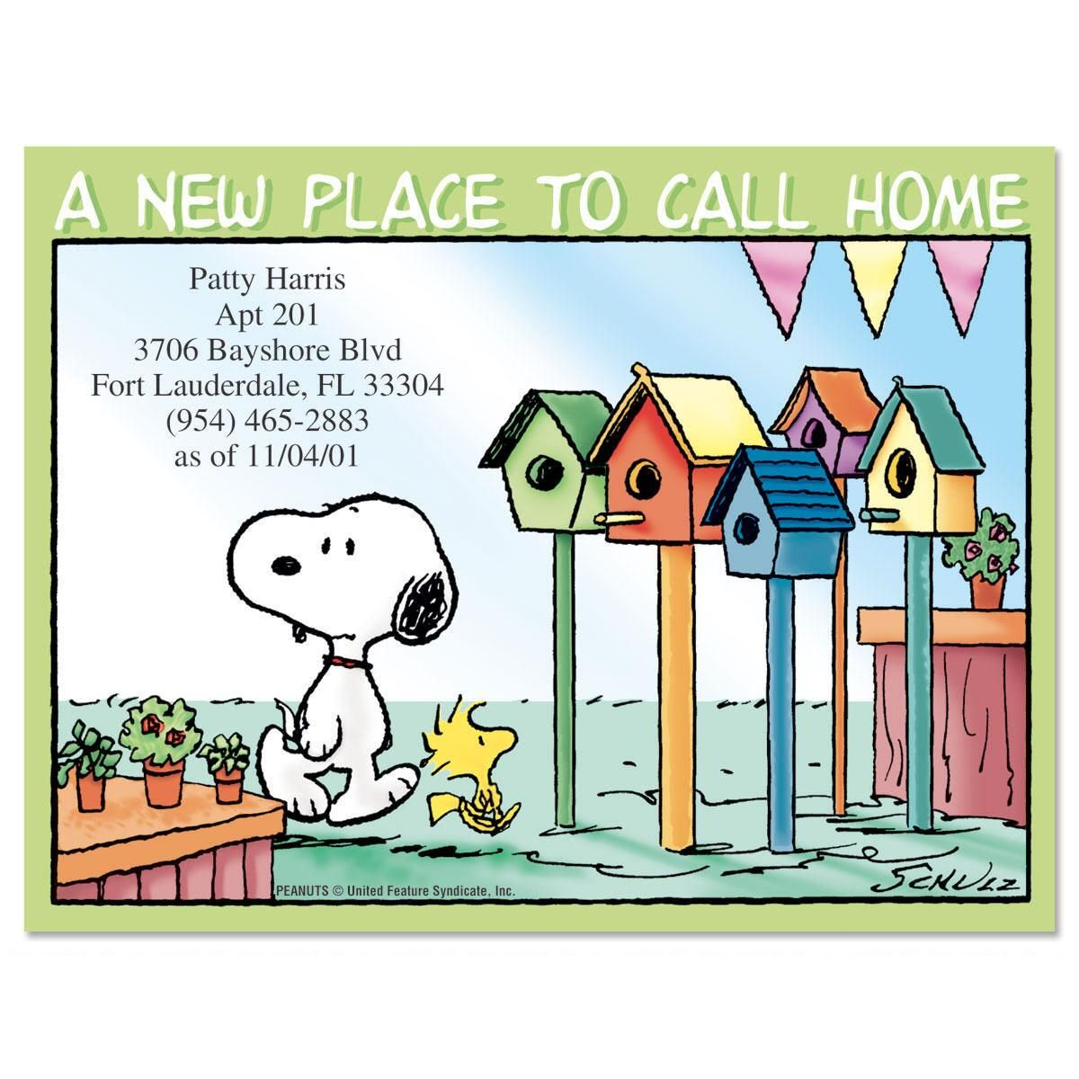 PEANUTS® House Hunting New Address Postcards
