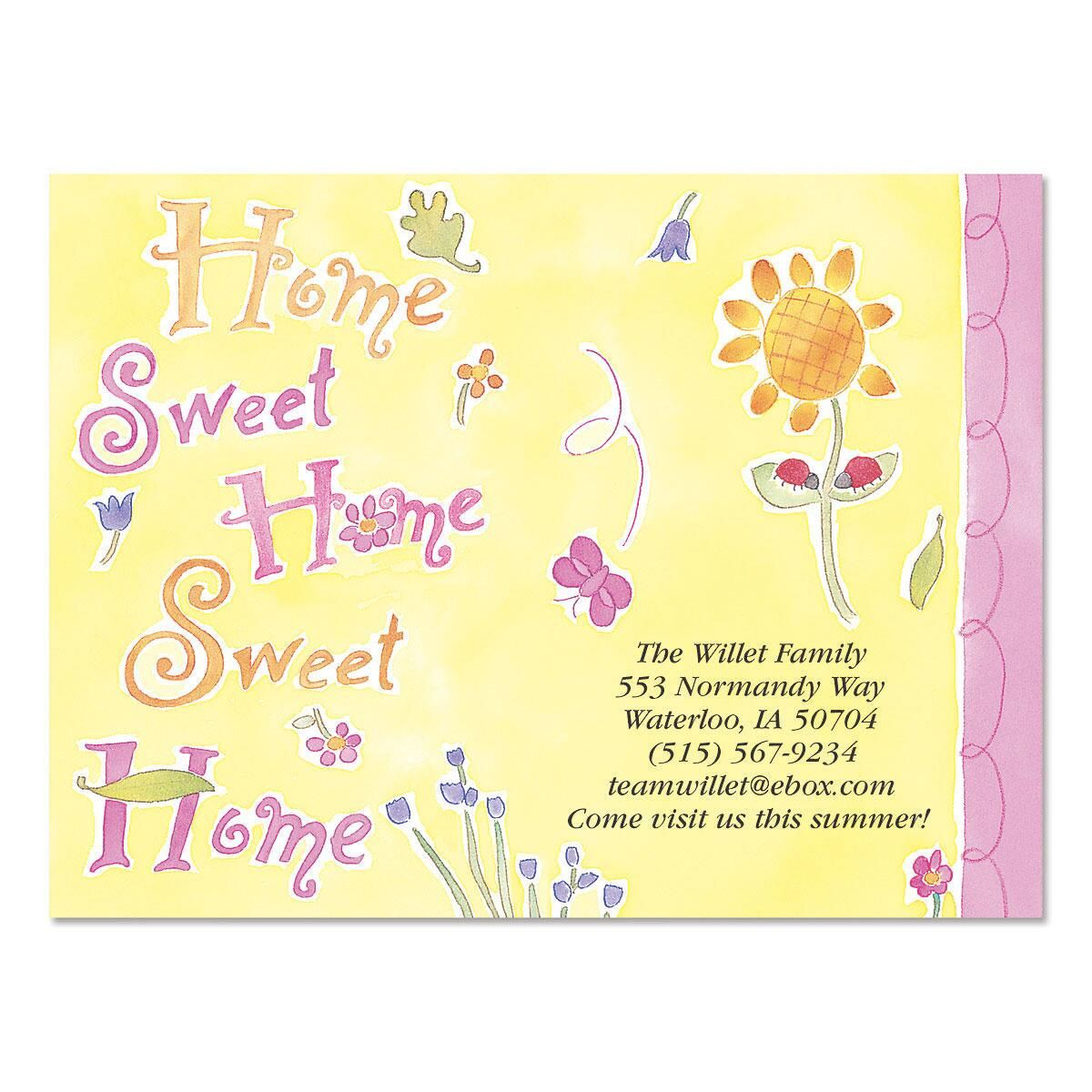 Home Sweet Home New Address Postcards