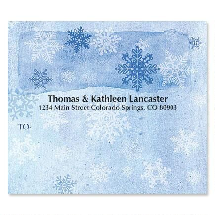 Snowflakes Package Labels