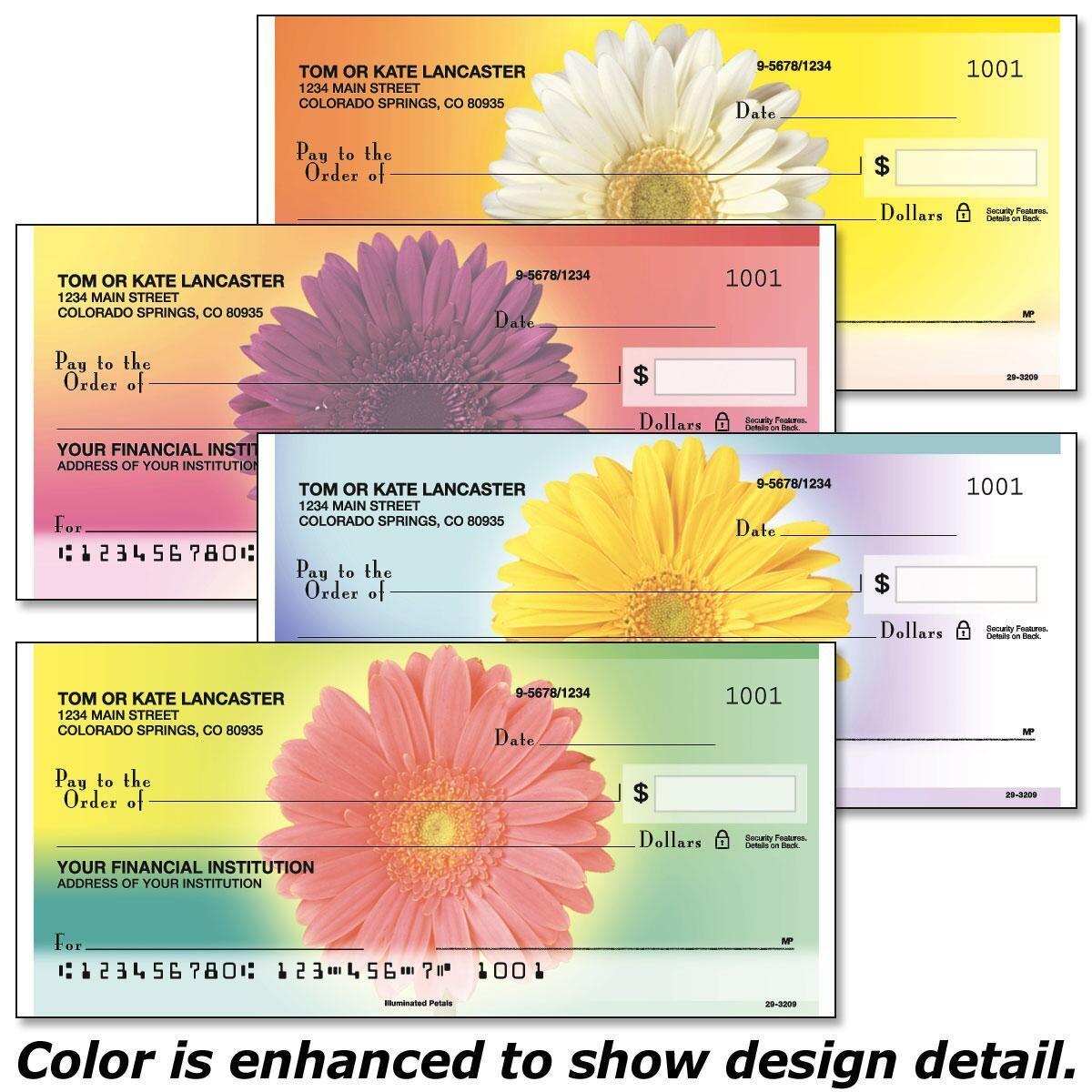 Illuminated Petals Personal Checks
