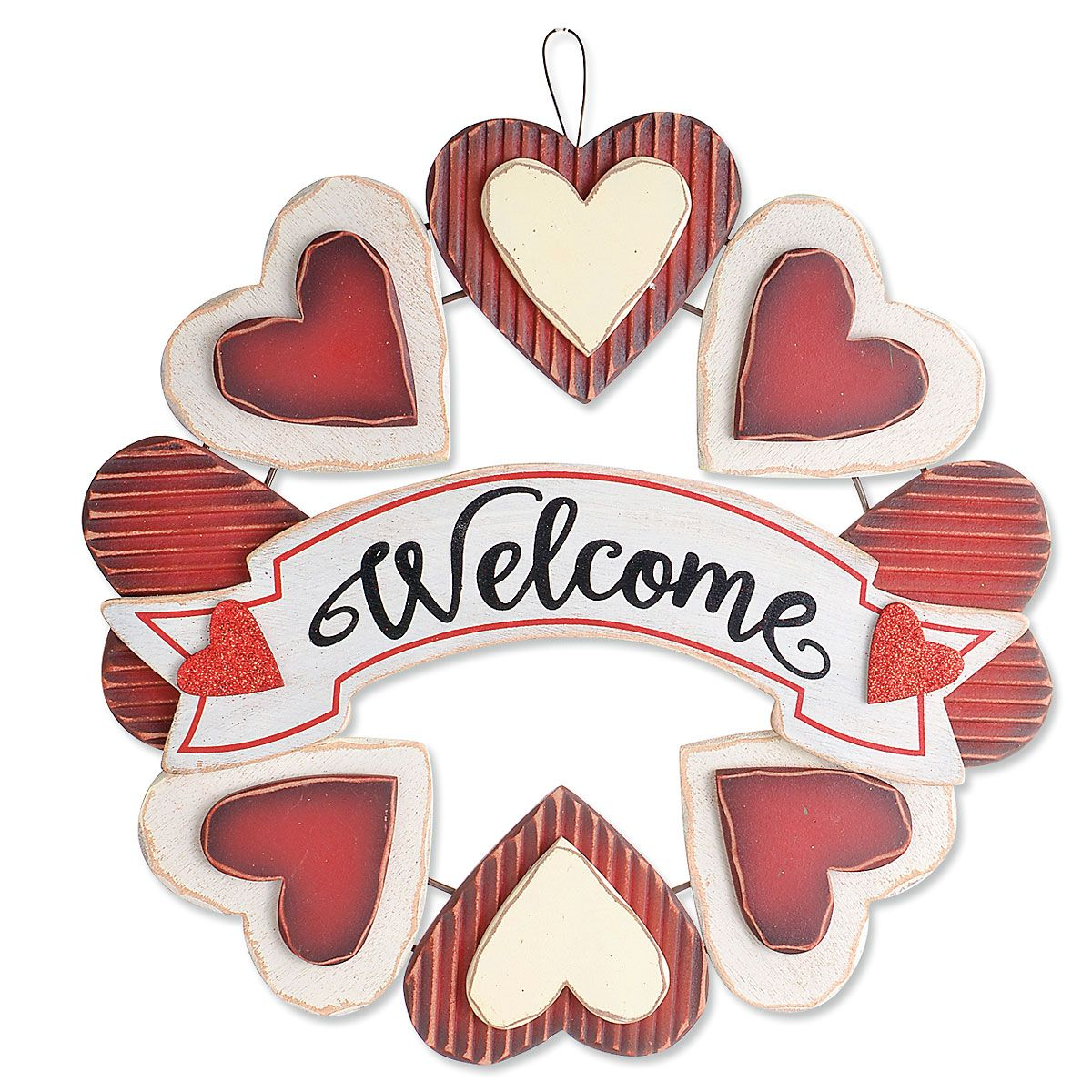 Welcome Heart Wreath