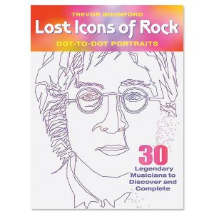 Rock Icons Dot-To-Dot Book