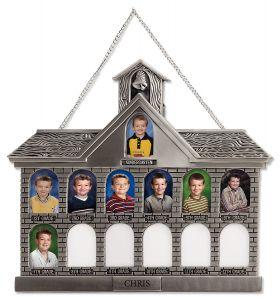 Antique Silver Tone Schoolhouse Frame