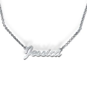 Sterling Silver Custom Script Name Necklace