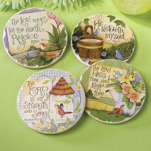Garden Scripture Coasters