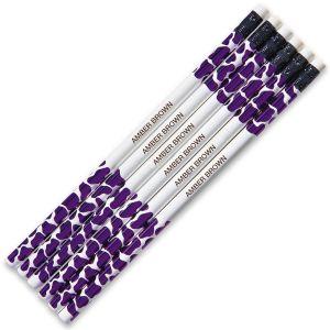 Purple Leopard #2 Hardwood Custom Pencils