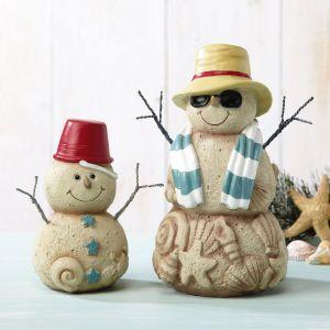 Sandy Snowman Figurines