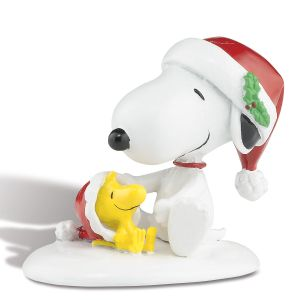 Happy Holidays Snoopy & Woodstock Figurine