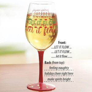Let it Flow Wineglass