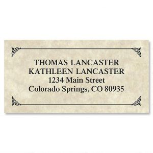 Antique Border Address Labels