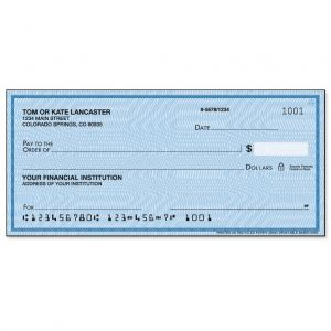 Security Blue Personal Checks