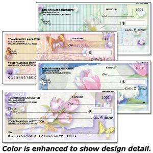 Floral Collage Checks