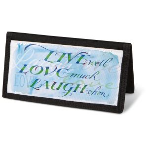 Live, Love, Laugh Checkbook Cover - Non-Personalized