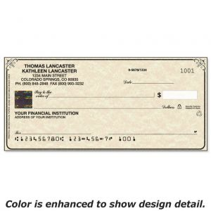 Securiguard Parchment Hologram Premium Personal Checks