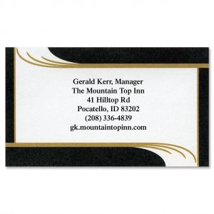 Black Onyx Business Cards