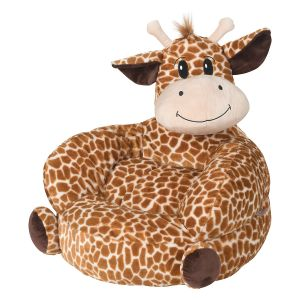 Plush Giraffe Children's Character Chair