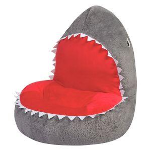 Plush Shark Children's Character Chair