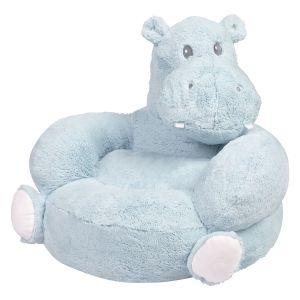 Plush Hippo Children's Character Chair