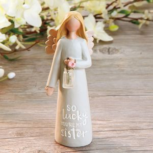 So Lucky You Are My Sister Angel Figurine