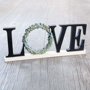 Love Sign with Wreath