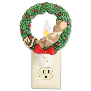 Mouse in Wreath Night Light Charming Tails®
