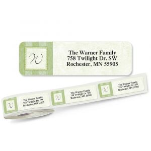 Tailored Elegance Initial Rolled Return Address Labels