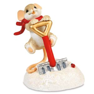 Uh-Oh More Snow! Figurine by Charming Tails®