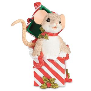 Mouse in Present Figurine by Charming Tails®