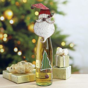 Santa Wine Bottle Charm