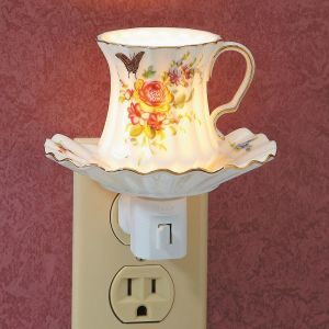 Rose Tea Cup Night Light
