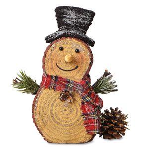 Mini Log Snowman