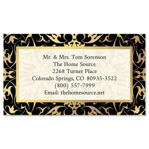 Black Filigree Gold  Foil Business Cards