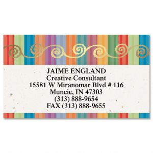 Color Caravan  Foil Business Cards