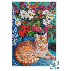 500-Piece Cat with  Bouquet Puzzle